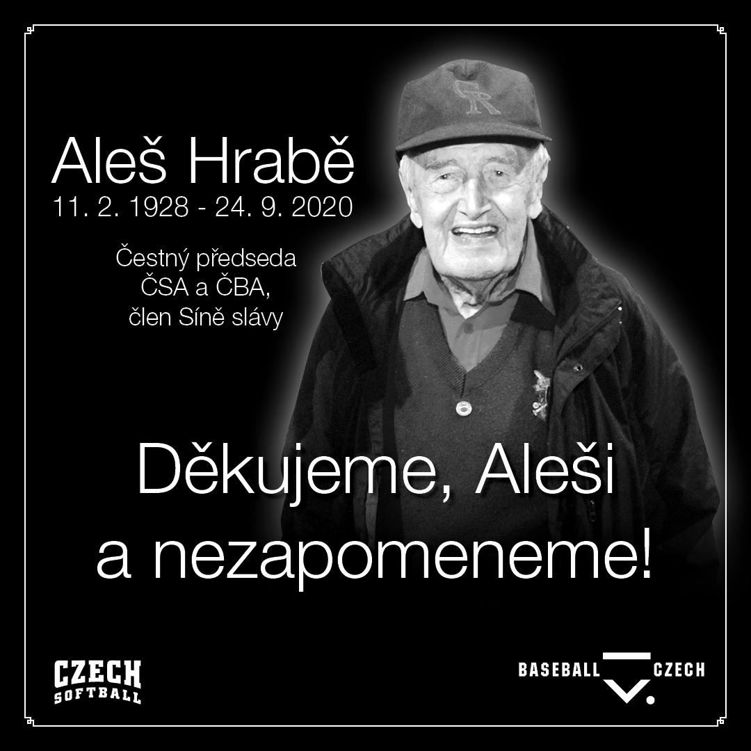Opustil nás Aleš Hrabě, první předseda Čs. baseballové a softballové federace